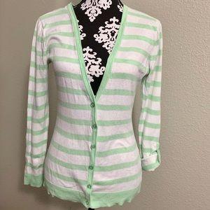 💚2/$15 Striped Cardigan